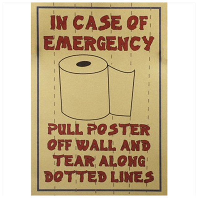 Toilet must have! Funny? Bathroom wc emergency supplies tile ...