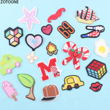 ZOTOONE Colorful Stylish Patch for Clothes Embroidered Badge on Jacket Appliques Crafts Patches Clothing Applications