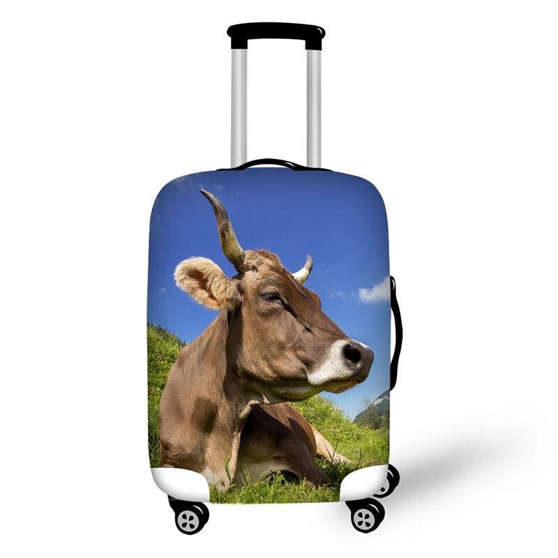 Животного Корова Лошадь дорожные аксессуары чемодан Защитные Чехлы 18-30 дюймов упругие камера пыли Чехол Эластичный Водонепроницаемый