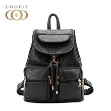 Винтажные черный шнурок рюкзаки женские леди PU кожаные сумки для женщин девочек ранцы откидной крышкой Модные женские рюкзаки