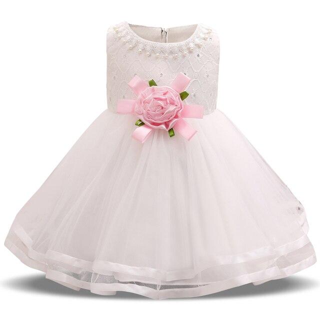 Blume Baby Hochzeit Kleid Perlen Dekoration Taufe Kleidung Säuglings ...