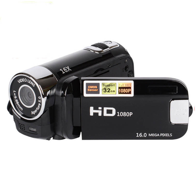 High Quality Full HD 1080P 16M 16X Digital Zoom Video Camera Camcorder TPT LCD Camera DV Outdoor Traveling Home Use Photography 1