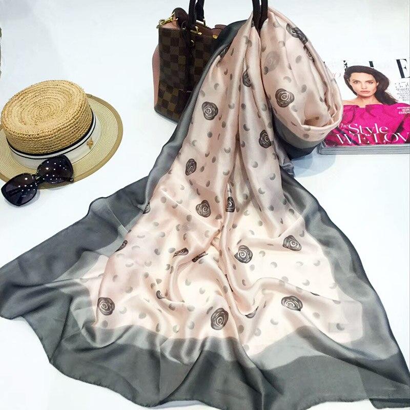 763aab2629e0 L-azyseason Marque Nouvelles Femmes Écharpe De Mode Lady Tout-Allumette  Impression Foulards de Soie Châles Wraps Pashmina Foulard Bandana Hijab  180X90 cmUSD ...