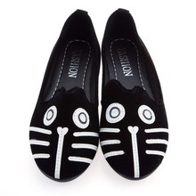 Kawaii Girl Women 2016 Dog Cat Flat Shoes Women's Casual Shoes Alpargatas Loafers Casual Cartoon Suede Soft Shoes