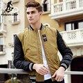 Pioneer camp marca ropa de moda invierno abajo chaqueta de los hombres de calidad superior masculina invierno abajo parka casual mens collar de béisbol
