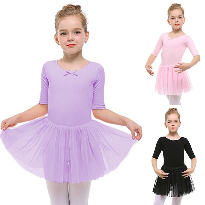 e08b9c52e Professional Ballet Tutu Child Swan Lake Costume Pink Purple Black Ballet  Dress for Children Pancake Tutu Girls Dancewear