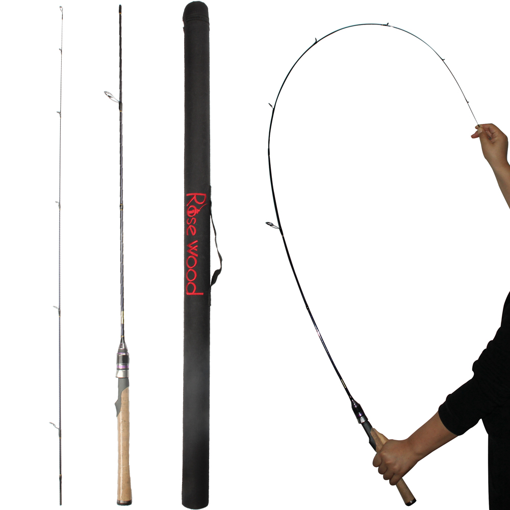 Rosewood ultra light trout spinning rods cast rod 6 for Ultra light fishing rod