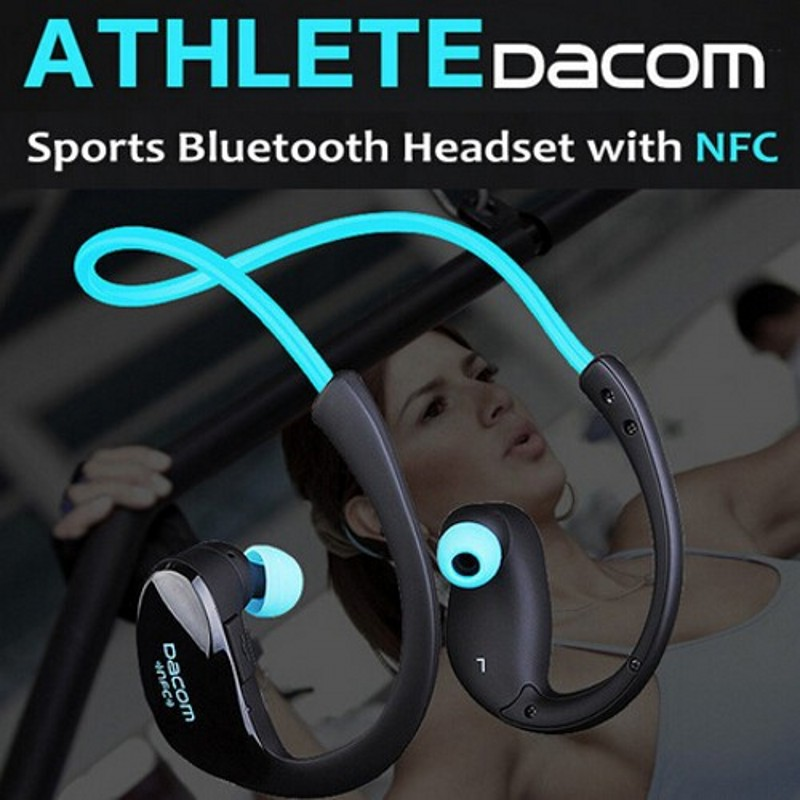 New 2014 Athlete wireless bluetooth 4.1 stereo headphone fashion sport running earphone Neckband headset with microphone & NFC Наушники