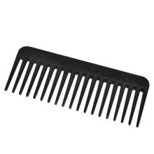 19 Teeth Wide Tooth Comb Black ABS Plastic Heat-resistant Large Wide Tooth Comb For Hair Styling Tool
