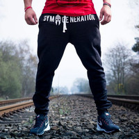 men Cotton fitness pants Slim trousers breathable pants muscle brothers men's crossfit full length autumn and winter