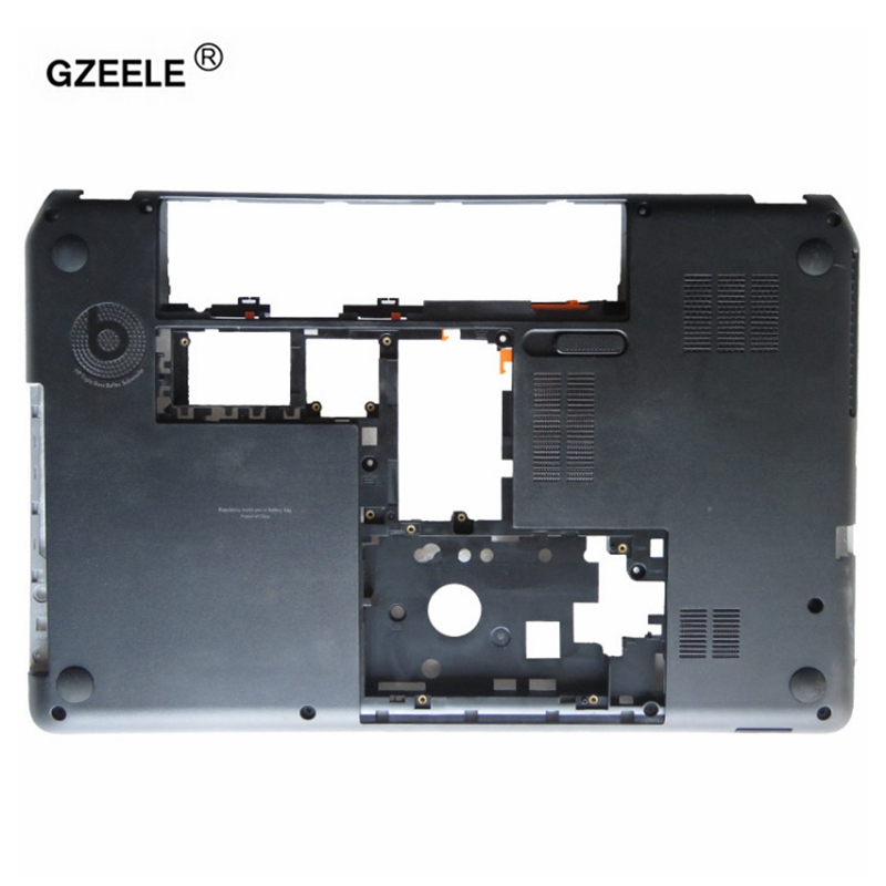 GZEELE NEW FOR HP Envy M6 M6-1000 Pavilion M6 M6-1000 M6-1001 Laptop Bottom Case Base lower Cover Series 707886-001 AP0U9000100 new original laptop palmrest top cover for hp for envy m6 m6 1000 m6 1125dx m6 1035dx m6 1009dx with touchpad upper 705196 001