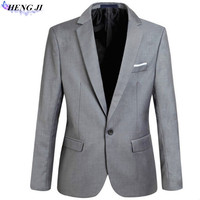 2018 Nowych Moda Mężczyzna Marynarka Casual Garnitury Slim Fit garnitur kurtka Mężczyźni Blazer kurtka veste Homme Kostium Bawełna Masculin plus rozmiar
