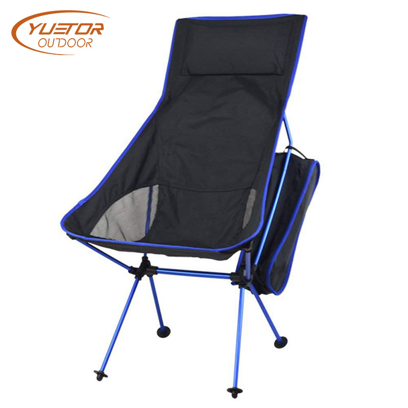 YUETOR OUTDOOR Folding Fishing Chair Camping Picnic Beach Chair BBQ Portable Ultralight 7075 Aluminum Alloy Moon Chair