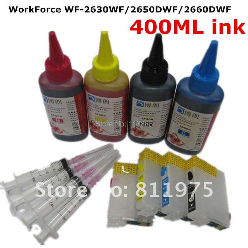 T1631 1634 Refillable ink cartridge for EPSON WorkForce WF 2630WF WF 2650DWF WF 2660DWF printers for