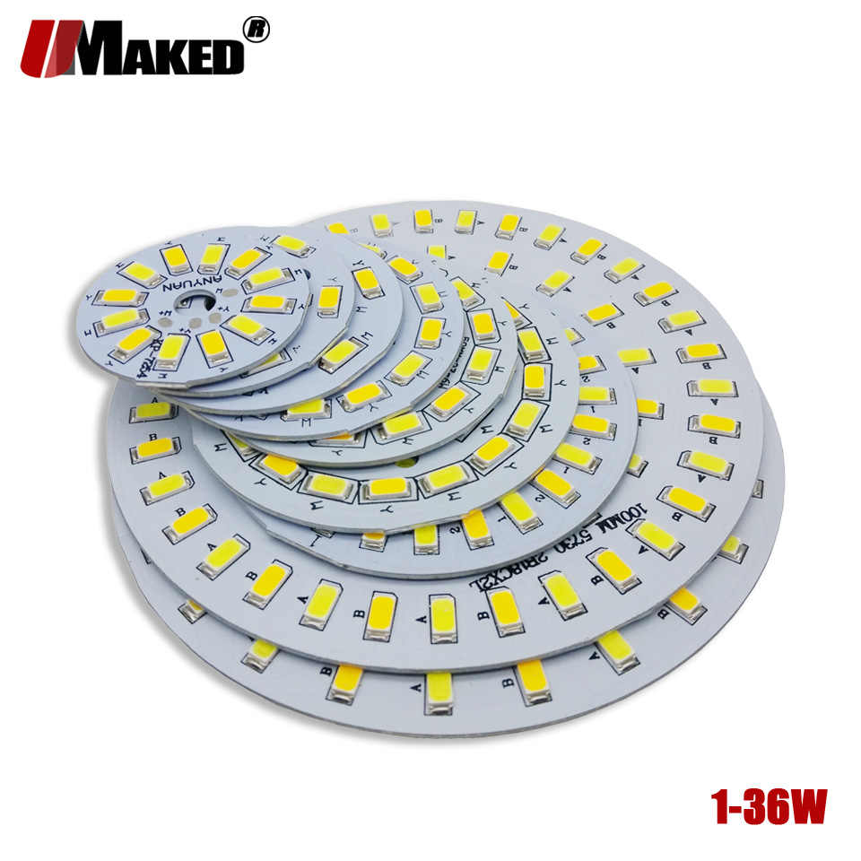 LED PCB SMD5730 lighting source lamp panel Three Color Dimmable 3/5W 7W 9W 12W 15W 18W Aluminum plate for led bulb downlight diy