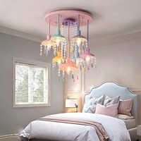 La habitación de los niños las luces de techo de iluminación creativa dormitorio lámpara nórdica comedor sala de la luz de techo de la lámpara