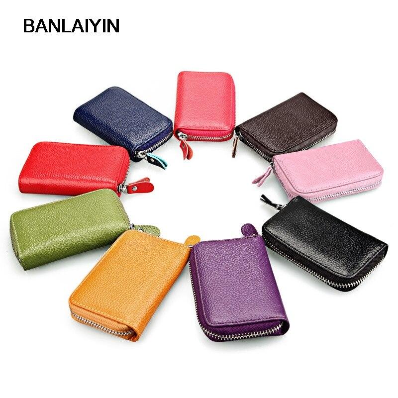 Pop Tide en cuir véritable porte-cartes unisexe portefeuilles haute qualité femme crédit porte-carte s femmes Multi couleurs porte-carte sac à main