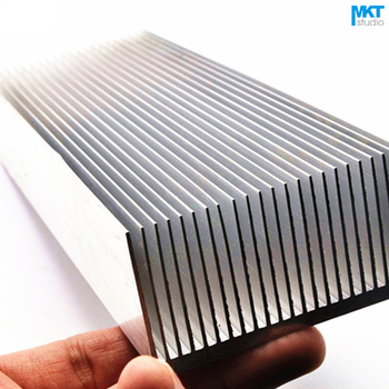 1Pcs 200x69x36W Pure Aluminum Cooling Fin Radiator Heat Sink