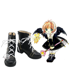 New Card Captor Sakura SAKURA CARDCAPTOR black  Shoes Cosplay Boots