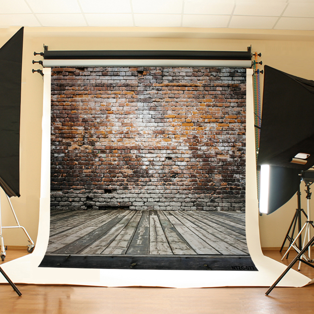 Kate old Brick Wall Wooden Photo Background Photography Backdrop Retro Photo Booth Background Children Background Photography