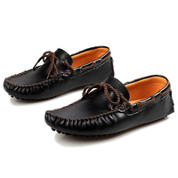 Fashion Low Men Driving Peas Shoes Leather Casual Men Handmade Shoes Zapatos De Hombre Mens Slip On Leather Shoes Suede Loafers