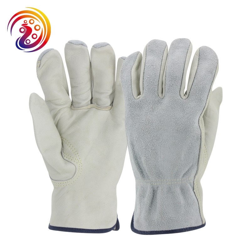 цена на OLSON DEEPAK Work Gloves Sheepskin Leather Factory Driver Gardening Handling Industry Gloves HY001
