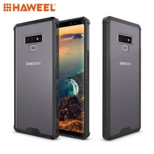 HAWEEL For Galaxy Note9 Acrylic + TPU Shockproof Transparent Armor Protective Case Simple Phone Cover Samsung