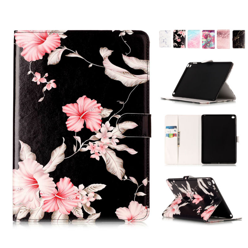 For iPad air 2 Tablet PC Case Cover 9.7'' Marble Slim Wallet PU Leather Protective Stand Skin For Apple iPad 6 air 2 Print Shell coque fundas for apple ipad air ii 2 pu leather stand luxury new cover case for ipad 6 a1566 a1567 9 7 inch cartton wallet shell