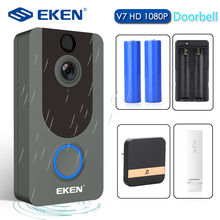 EKEN V7 1080P Smart WiFi Video Doorbell Camera Visual Intercom with Chime IP Doo