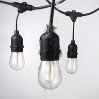 Promo Impermeable 15M 15 luces LED de cadena de interior al aire libre de grado comercial E26