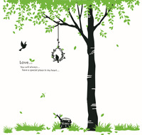 60 90CM Tree Large Wall Sticker Mural Home Decoration Accessories Rustic Style Black Poster Vintage Home