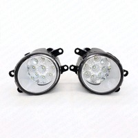 LED Front Fog Lights For TOYOTA AURIS NRE15 ZZE15 ADE15 Car Styling Round Bumper High Brightness DRL Day Driving Bulb Fog Lamps