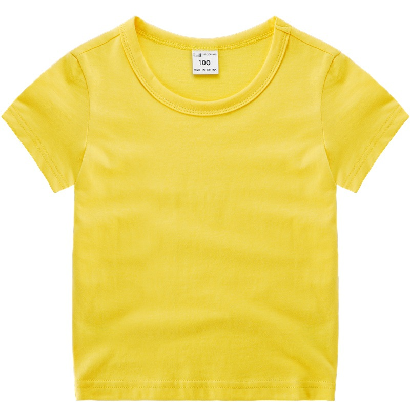 VIDMID boys girls short sleeve t-shirts clothes kids cotton summer tops t-shirts clothing boys girls solid tees tops 7060 03 3