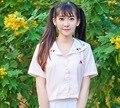 Japanese Lolita Sailor Collar Short Women Cute Ichigo Shoujou Strawberry Embroideried JK Uniform Short Sleeve Tops