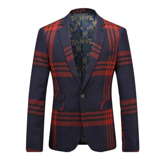 2017 Chaqueta de Los Hombres de Corea Del Estilo Del Resorte Traje de Chaqueta de Un Solo Botón Para Hombre Blazers Chaqueta Pintura de Moda Trajes de Vestir