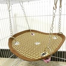 Pet кровать клетка коврик подвес хорек гамак кровать мягкий прохладный удобный коврик гамак использование котенок попугай товары для маленьких животных