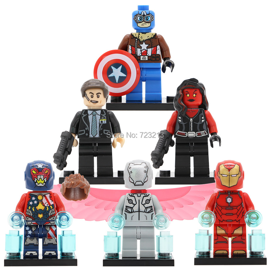 Single Sale Hammer Super Hero Spider Boy Iron Man She Hulk Adaptoid Coulson Marvel Building Blocks Set Toys