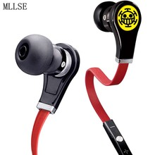 MLLSE Anime One Piece Law In-ear Earphones 3.5mm AUX Wired Stereo Earbuds Sport Gaming Headset for Iphone Samsung Xiaomi MP3 PS4