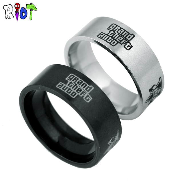 Ps Rings Game Grand Theft Auto  Stainless Steel Metal Ring Men Jewelry Flying