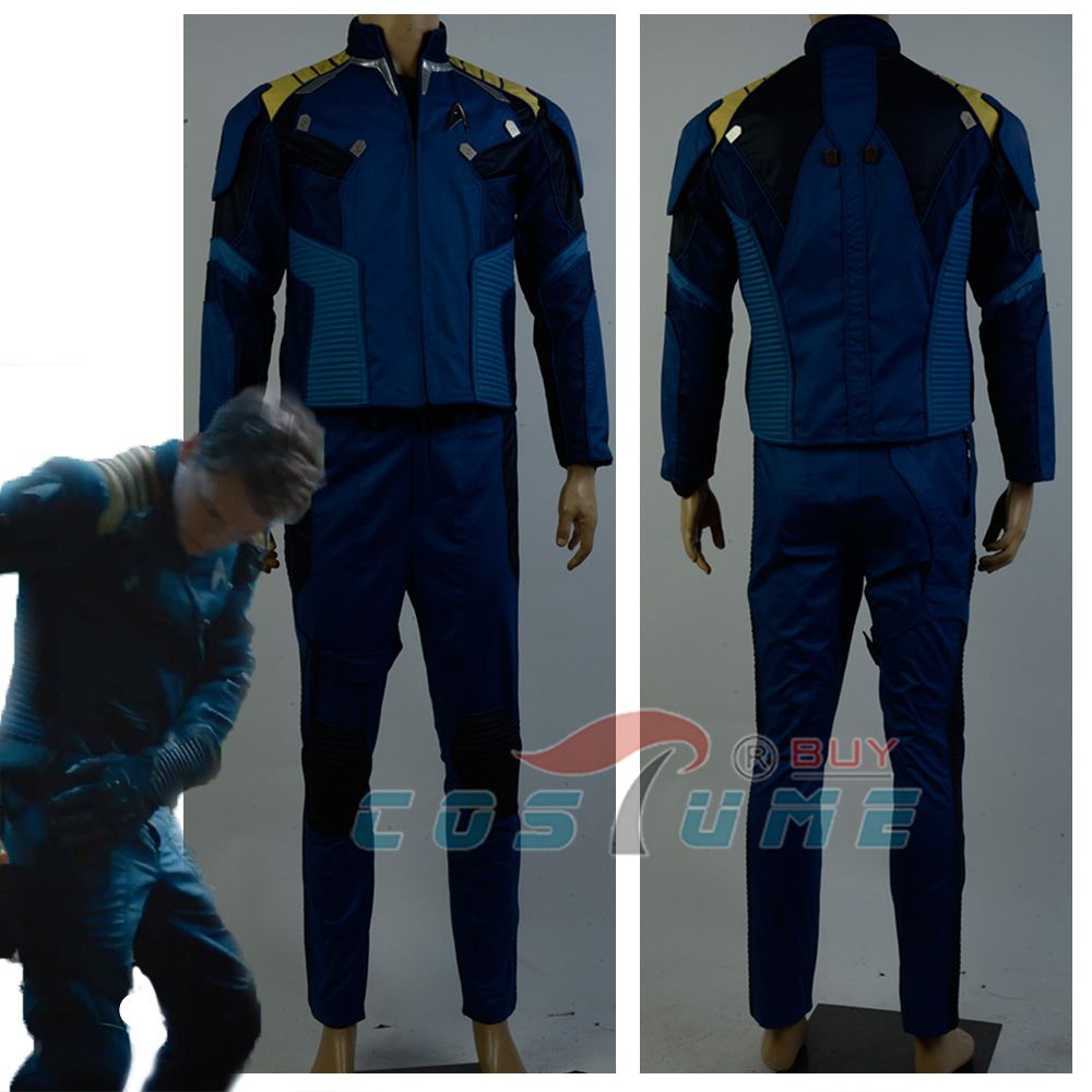 Star Trek Beyond Captain Kirk Commander Battle Uniform Cosplay Costume Halloween