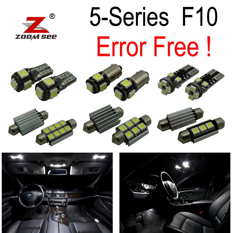 20pc X Canbus for BMW 5 Series F10 520i 528i 530i 535i 550i M5 LED Interior dome Light Kit Package (2011-2016) right side replacement car back rear reflector warn light for bmw 5 series 520 528 530 535 550 f10 f18 2010 2013 3102 r