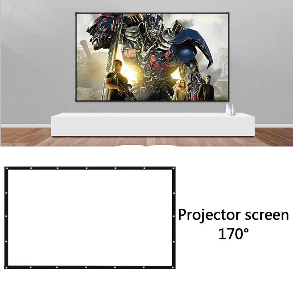 60 72 84 100 <font><b>120</b></font> 150 inch Foldable <font><b>16:9</b></font> Projector White Projection <font><b>Screen</b></font> edging projector <font><b>screen</b></font> TV home audio-visual <font><b>screen</b></font> image