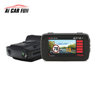 1080P Car Radar Detectors 3 In 1 DVR Speed Measurement Auto GPS Camera Dash Cam Data