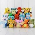 1pcs pikachu Charmander Dedenne Vulpix Dragonite Froakie mudkip Substitute lugia chikorita plush stuffed toy doll free shipping