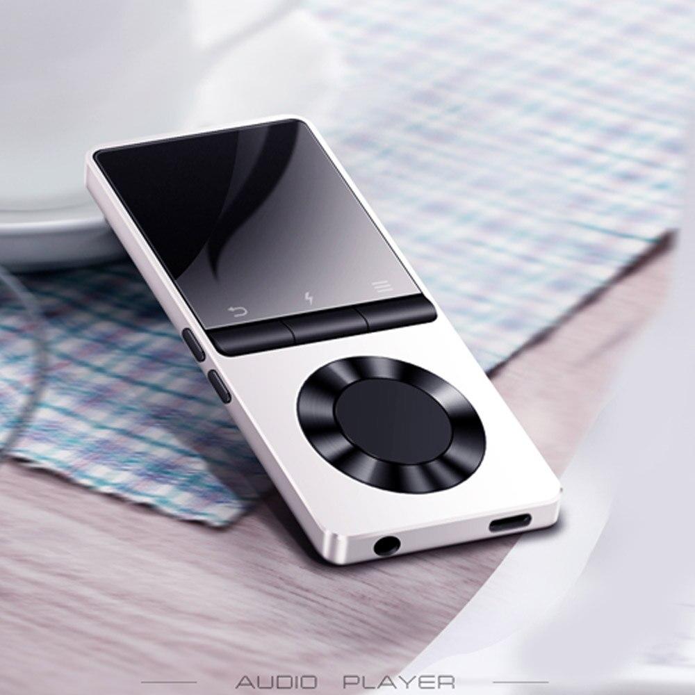 Metall MP3 Player Bluetooth 4,2 Tragbare Audio 4g 8 gb Verlustfreie Musik-Player mit Eingebauter Lautsprecher FM Radio, recorder, E-buch, Uhr