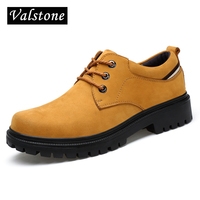 Valstone Hand Made Genuine Leather Boots Men Low Ankle Woker Boots Male Hot Style Classic Fashion