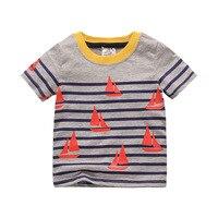 Boys Girls T Shirt Character Summer Short Sleeve Top Cotton Brand T-shirt For Kids O-neck Girls Tops For 1-6T Kids Clothes