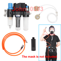 3 In 1 Function Supplied Air Fed System For Spraying Respirator Gas Mask