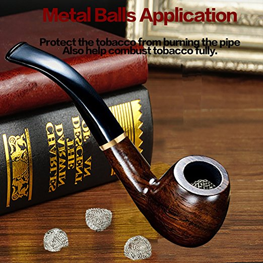 New 1 set Smoking Pipe Ebony Tobacco Pipe with Pipe Accessories wooden in Tobacco Pipes Accessories from Home Garden