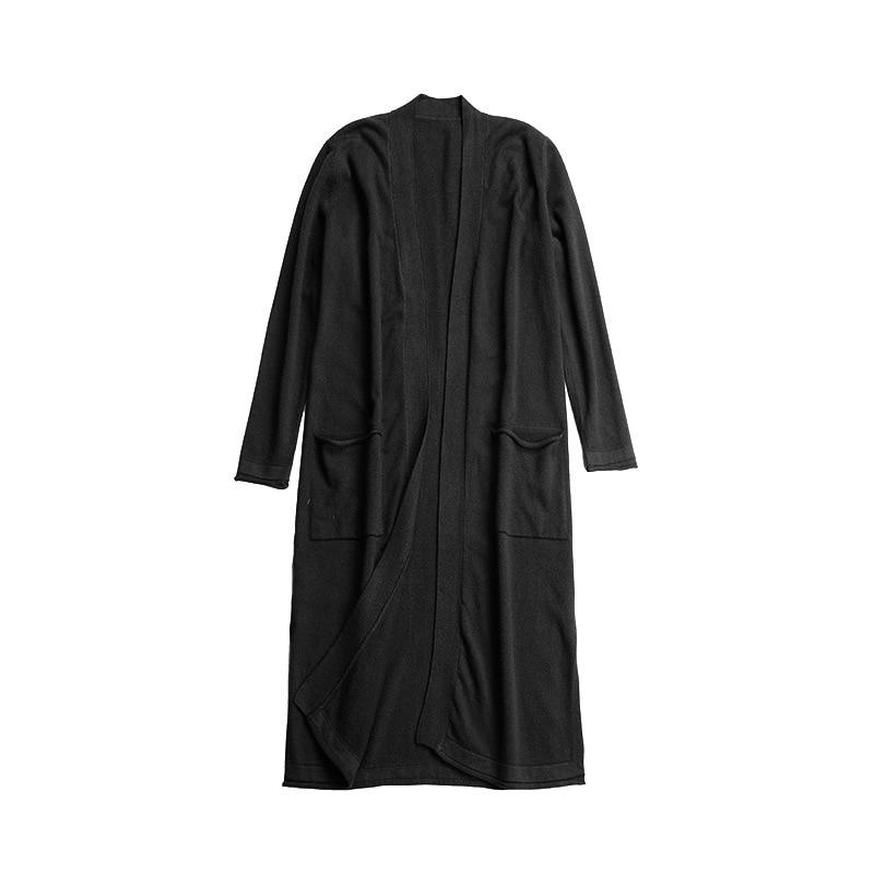 Poches Cardigan Marque Solide Ouvrir Point Et kaki De Tricoté Taille Automne Couleur Chandail Micosoni rouge vert Manteau Noir Bureau Hiver jaune Nouvelle 2018 Dame 8Yd6xq6